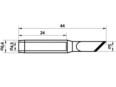 Lötspitze 3,0mm (abgeschrägt) N9-3 für ZD-8906-N