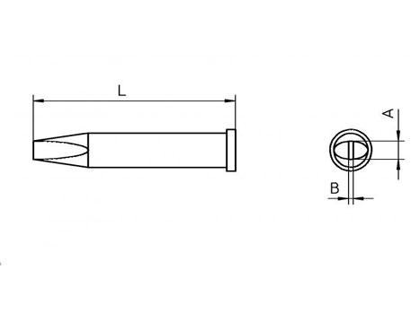 Lötspitze Weller XT-C 3,2x 0,8mm meißelförmig XTC