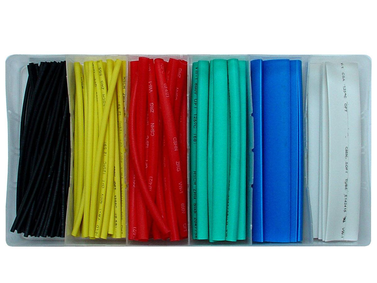 Schrumpfschlauch-Sortiment  100-teilig (farbig)