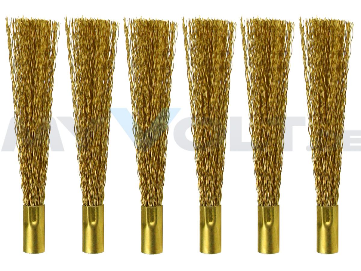 Messingdrahtpinsel für Glasfaserstift / Glasradierer 6-Stück