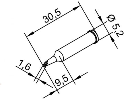 Lötspitze ERSA 102WDLF16 Ø 1,6mm mit Hohlkehle ( Lotdepot )