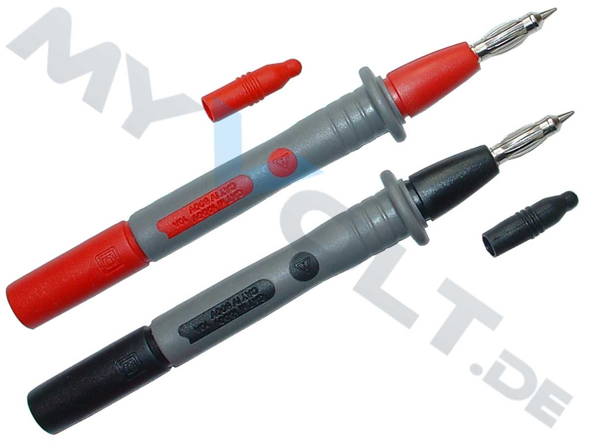 Messspitze / Prüfspitze MCC mit 4mm Federkorb und Sicherheitsbuchse