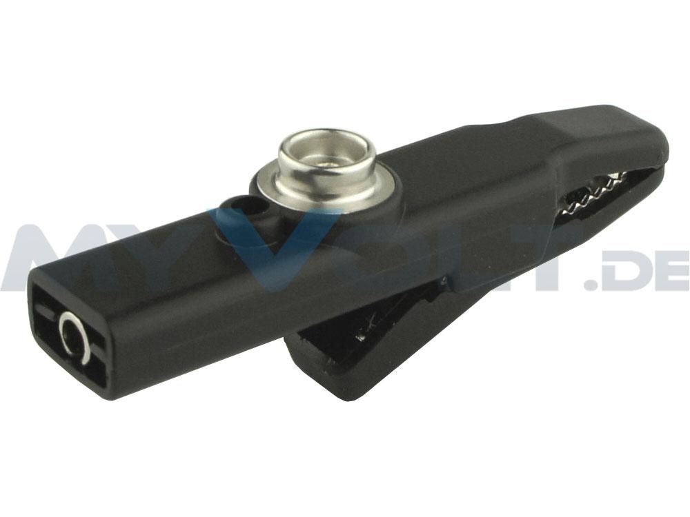 ESD-Krokodilklemme mit 10mm Druckknopfanschluss