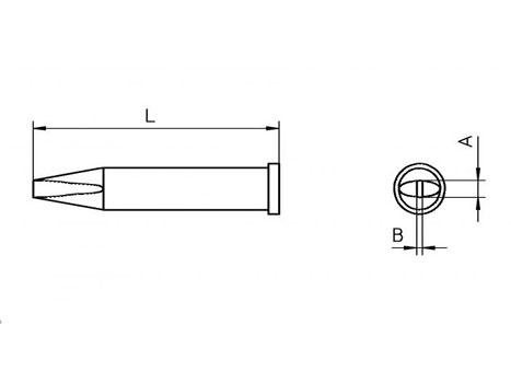 Lötspitze Weller XT-B 2,4x 0,8mm meißelförmig XTB