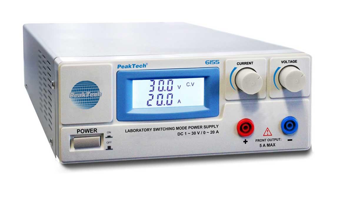 Labornetzgerät 1-30V - 0-20A PeakTech P-6155