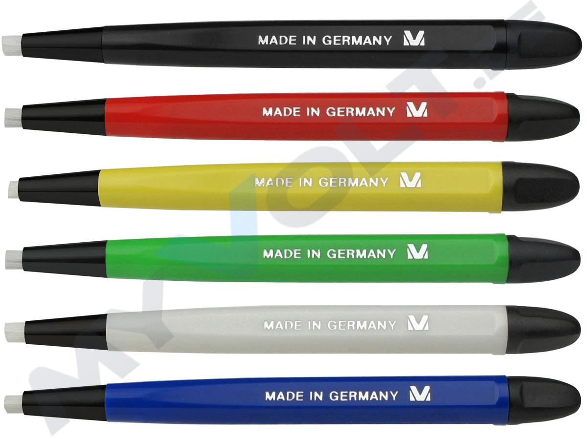Glasfaserradierer MV-Tools mit Kunststoffspitze inkl. 12 Glasfasereinsätze