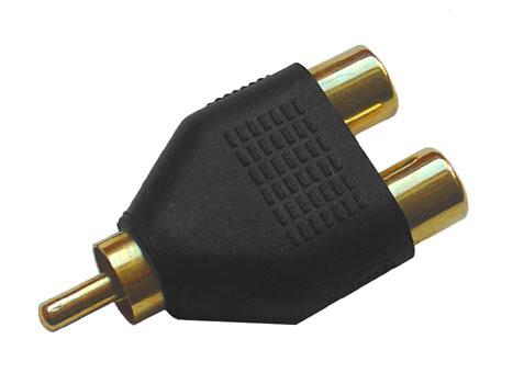 Y-Cinch-Adapter (vergoldet)