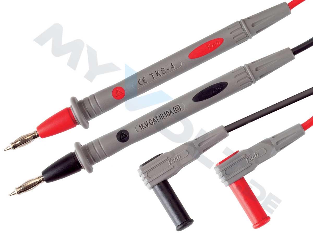 Messleitungen-Set mit 4mm Federkorb-Prüfspitzen