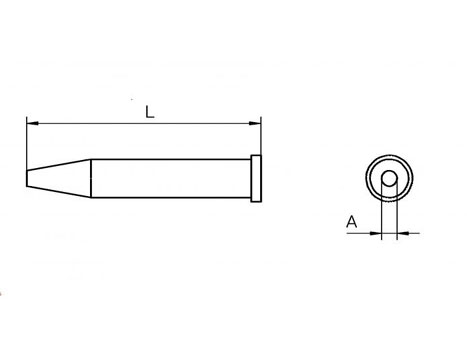 Lötspitze Weller XT-CS Ø 3,2mm rundförmig XTBS