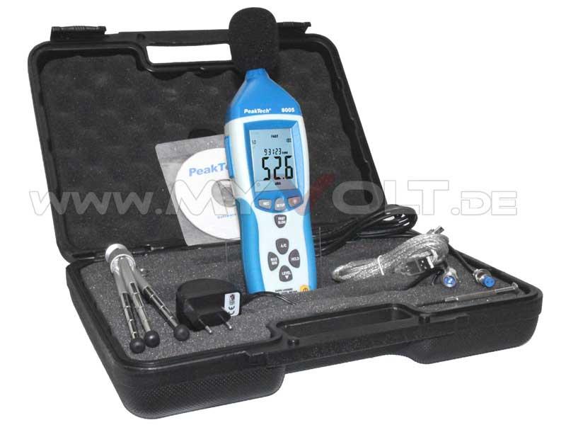 Digital-Schallpegelmessgerät PeakTech P-8005 USB