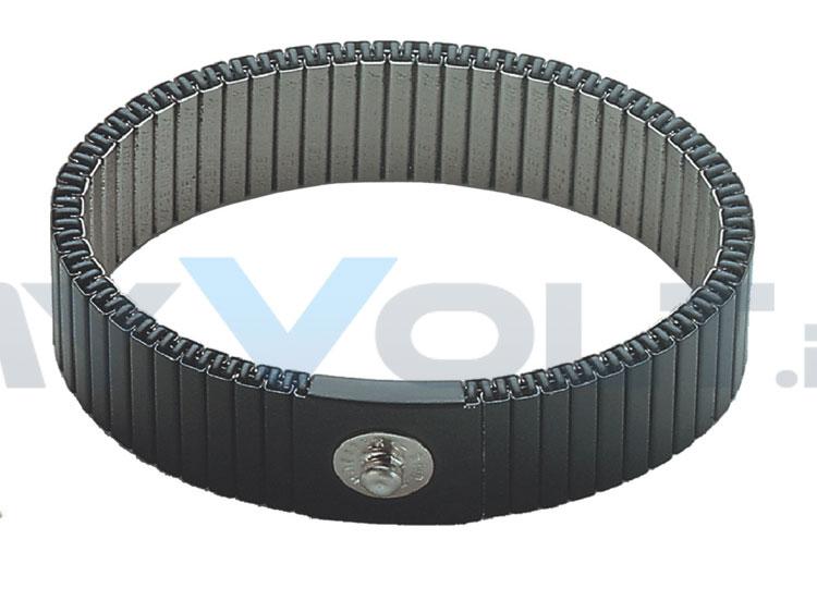 ESD-Metall-Handgelenkband mit 4mm Druckknopf (GS)