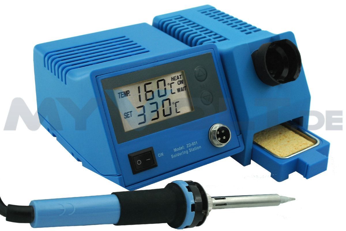 Löt-Set mit digitaler Lötstation LS-450 / ZD-931 (in blau)