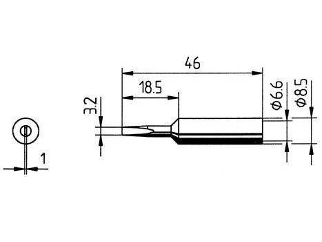 Lötspitze ERSA 0832EDLF (LF) 3,2mm meißelförmig