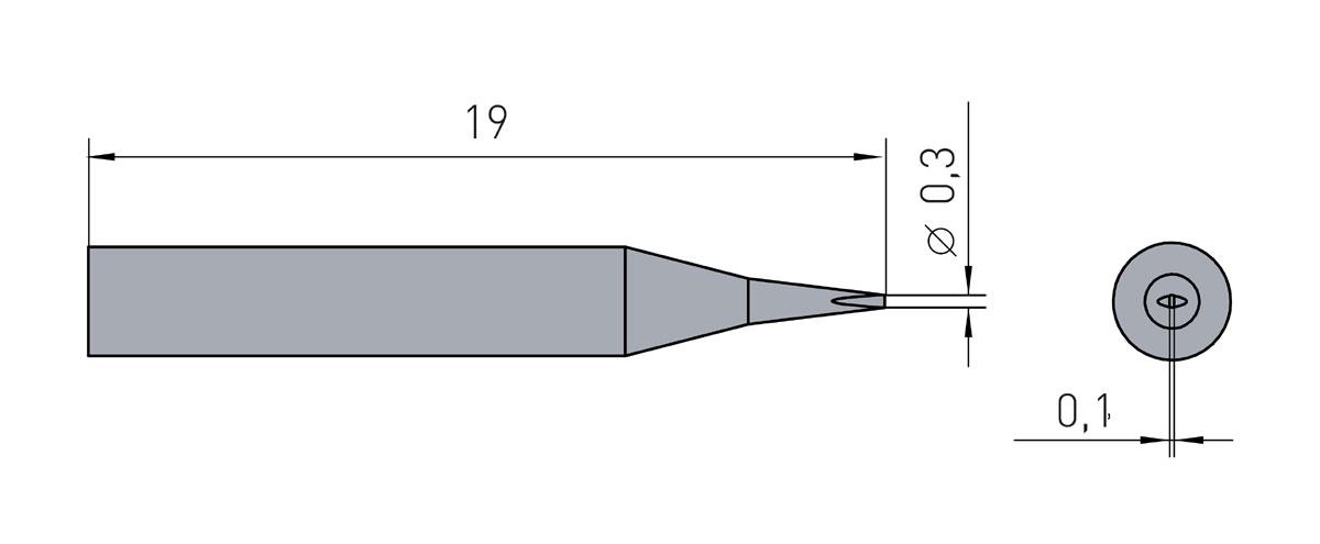 Lötspitze Weller RTM-003-S-NW / RT1SCNW 0,3x 0,1mm (meißelförmig) RT-1SCNW - 40 Watt