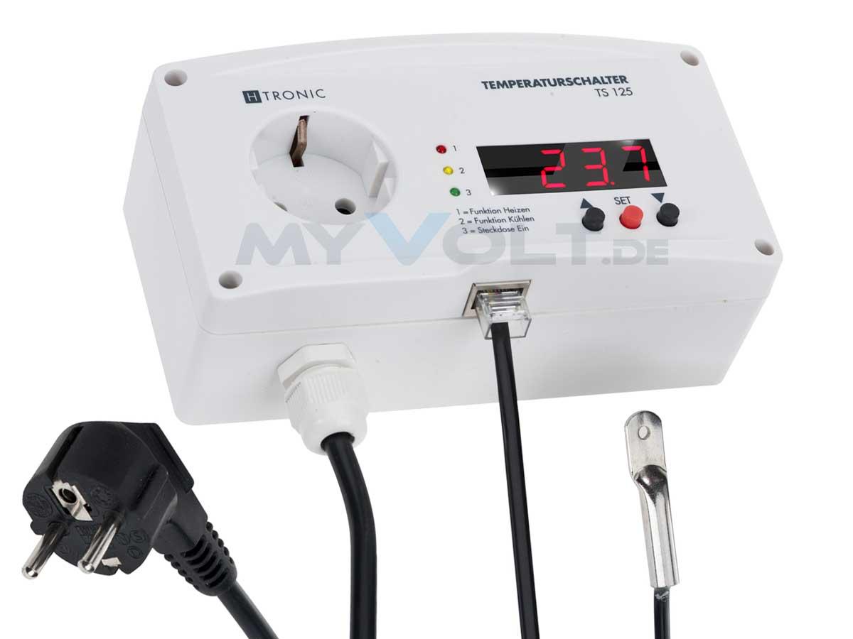 Temperaturschalter TS-125 Temperaturregler -55°C bis + 125°C