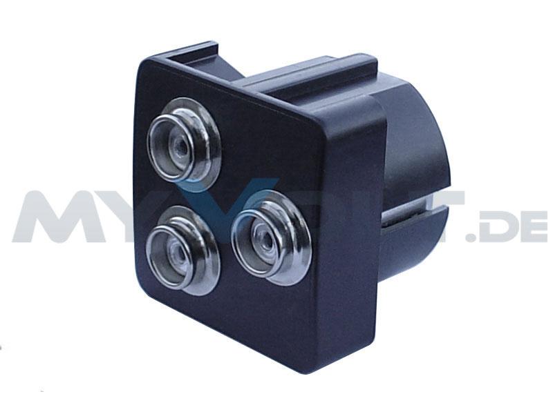 ESD-Erdungsbaustein mit 3x 10,3 mm Druckknopfanschlüssen