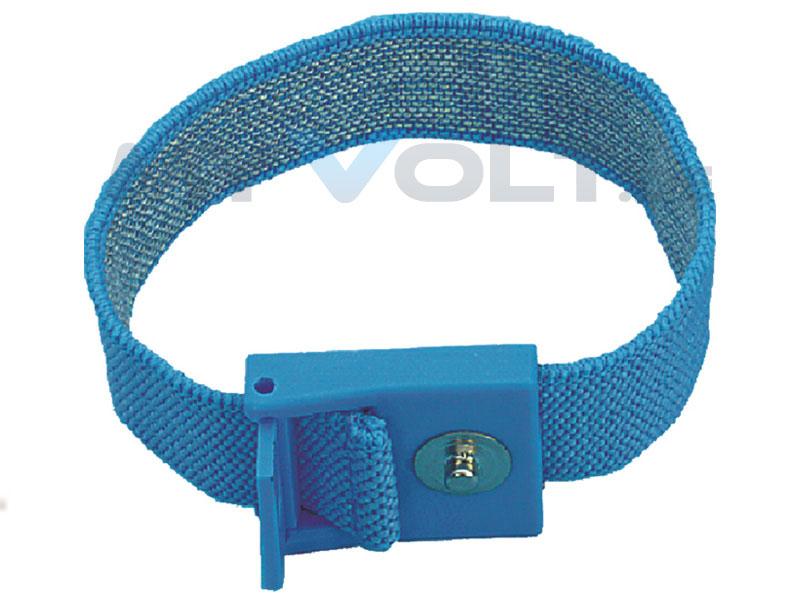 ESD-Handgelenkband 4mm Druckknopf (hellblau)
