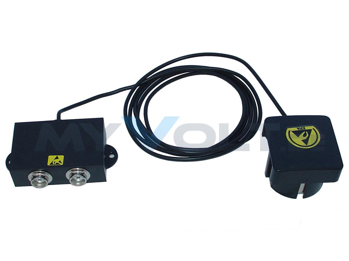ESD-Erdungsbox mit 2x 10,3 mm Druckknopfanschlüssen