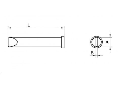 Lötspitze Weller XT-E 5,9x 1,2mm meißelförmig XTE