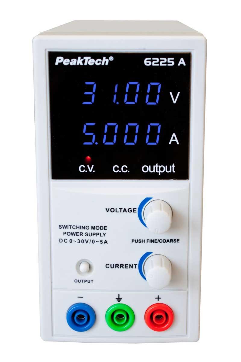 Labornetzgerät 1-30V - 0-5A PeakTech P-6225-A