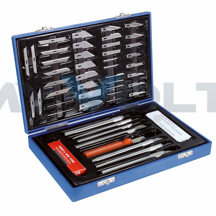 Cutter-Messer-Bastel-Set mit Koffer
