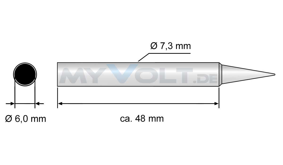Lötspitze 2,2mm (meißelförmig) für LS-1000 , ZD-937, ZD-929C - LS-450