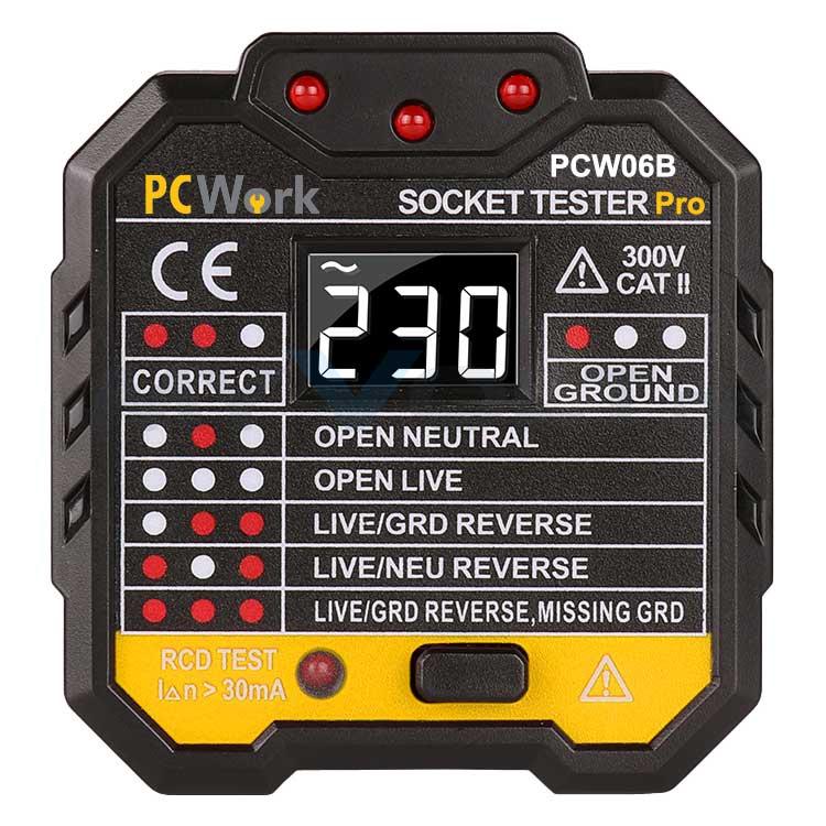 Steckdosentester PCWork PCW06B