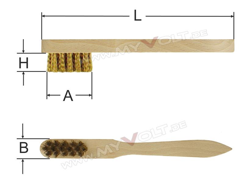 Messingbürste mit Holzgriff zur Lötspitzenreinigung