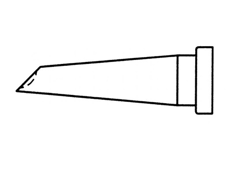 Lötspitze Weller LT-GW1 2,3 mm LTGW1 Lotdepotspitze mit Hohlkehle