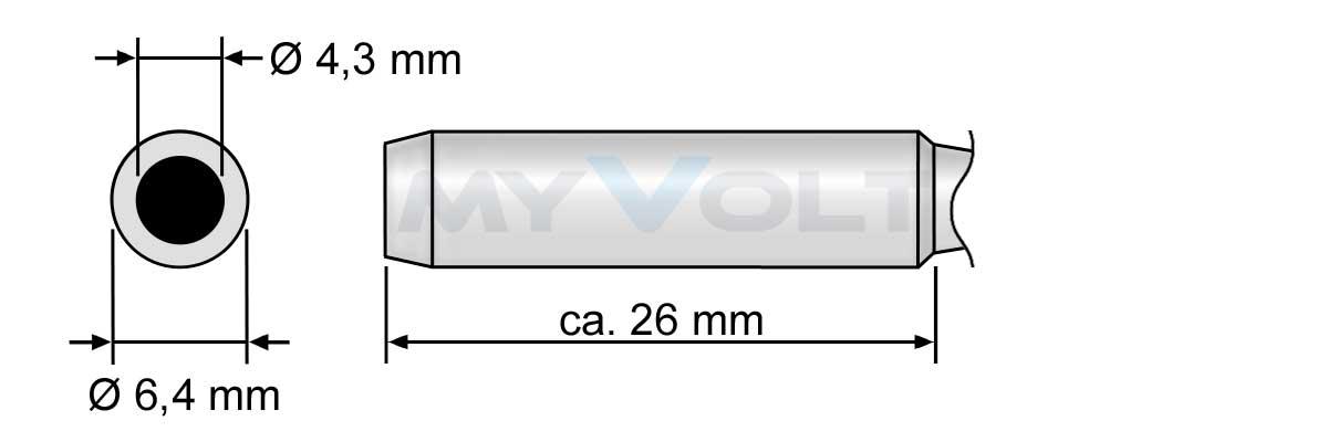 Lötspitze 4,0mm (abgeschrägt) N9-4 für ZD-8906-N