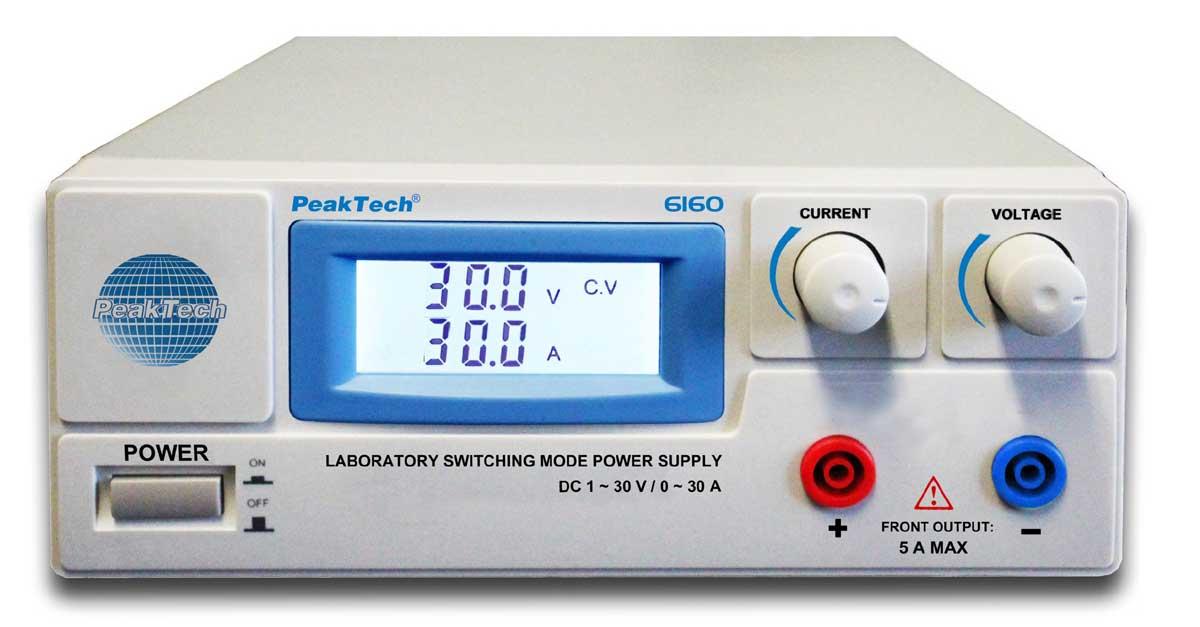 Labornetzgerät 1-30V - 0-30A PeakTech P-6160