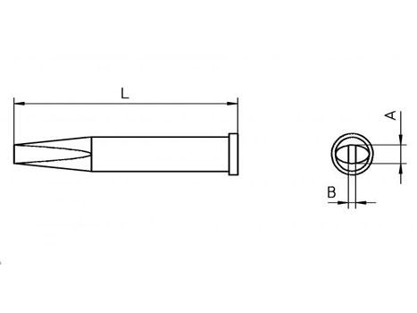 Lötspitze Weller XT-M 3,2x 1,2mm meißelförmig / lang XTM