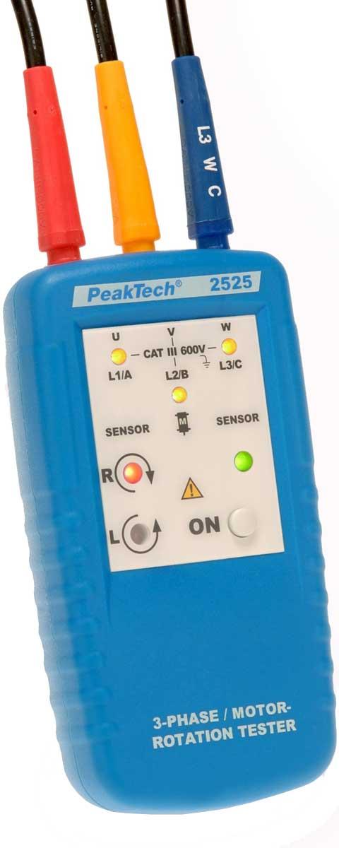 3-Phasen-Motor-Drehrichtungs-Anzeiger PeakTech P-2525