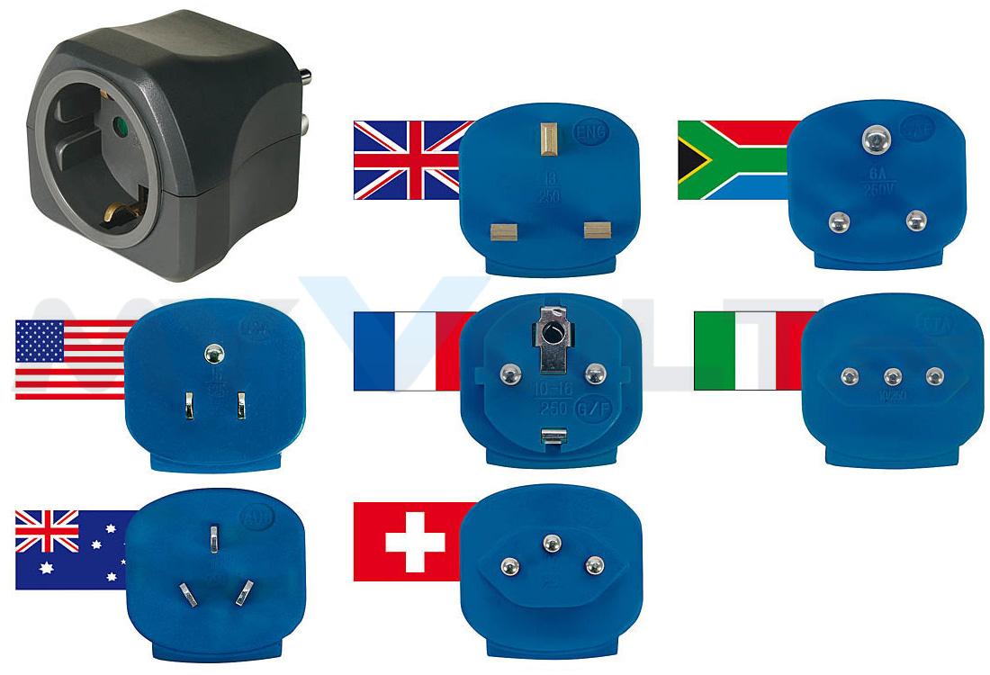 Welt-Reisestecker-Set von Brennenstuhl