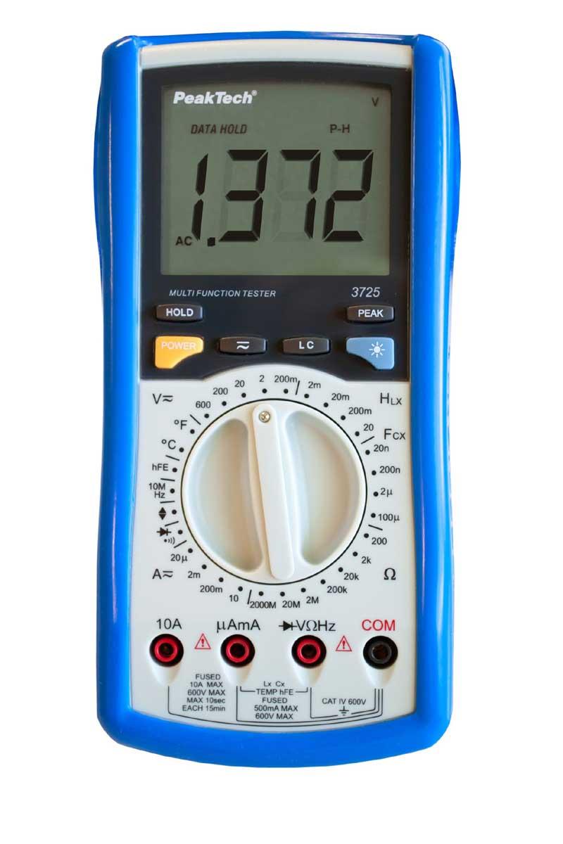 Digital-Multimeter PeakTech P-3725 Multifunktionstester