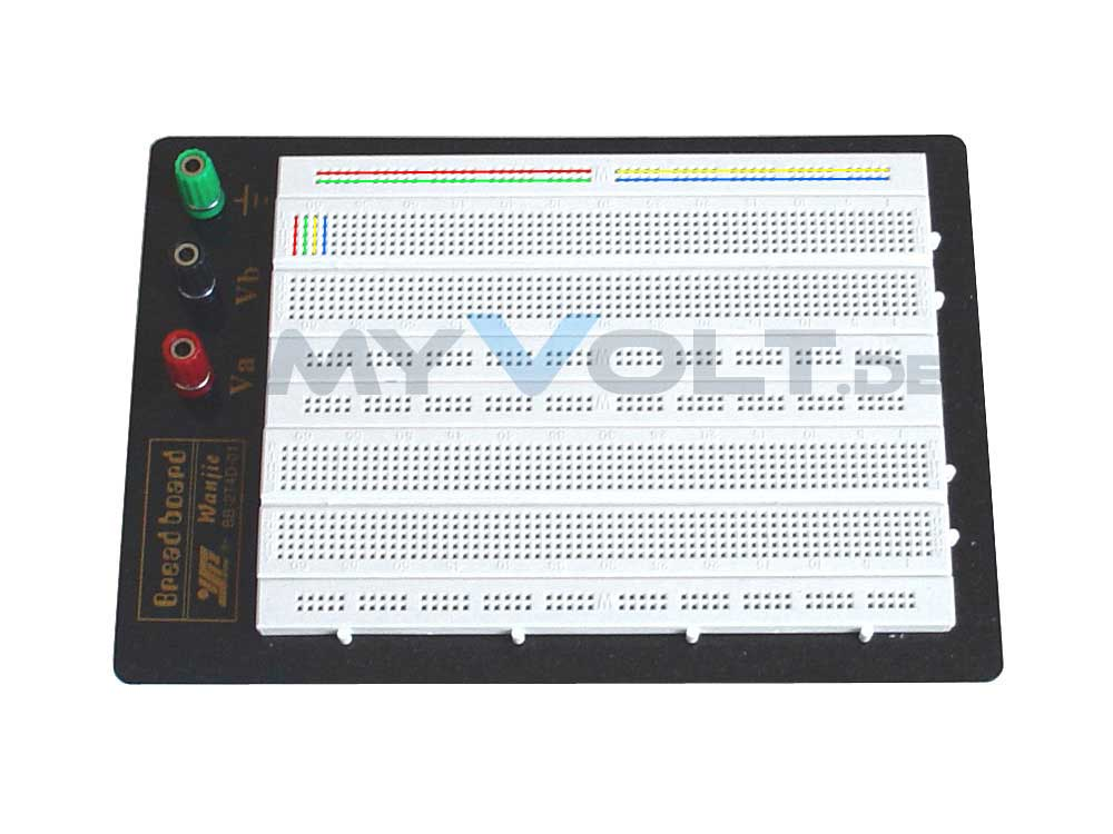 Experimentierboard Laborsteckboard 1280/400 3-Terminals