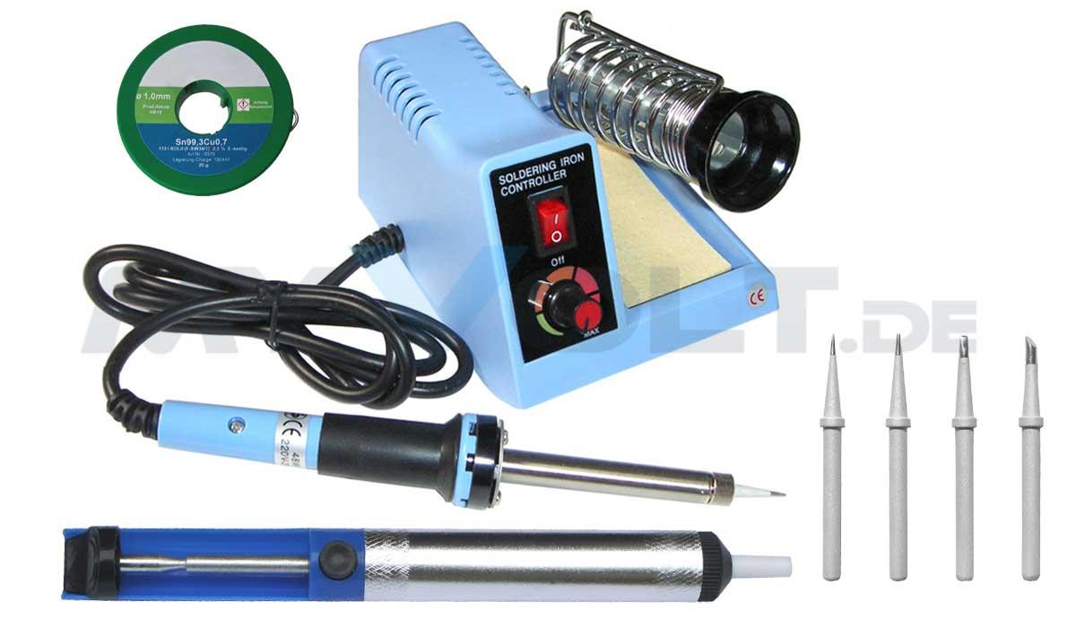Löt-Set mit regelbarer Lötstation ZD99 (48 Watt)