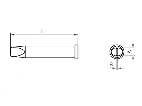 Lötspitze Weller XT-D 4,6x 0,8mm meißelförmig XTD
