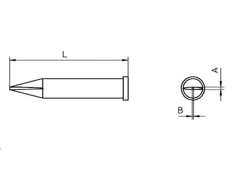 Lötspitze Weller XT-H 0,8x 0,4mm meißelförmig XTH