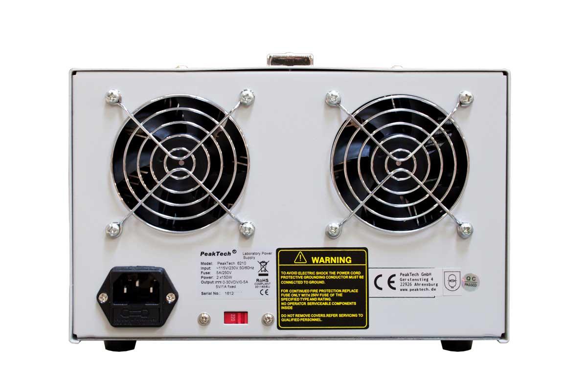 Labornetzgerät 2x 30V 5A LED PeakTech P-6210