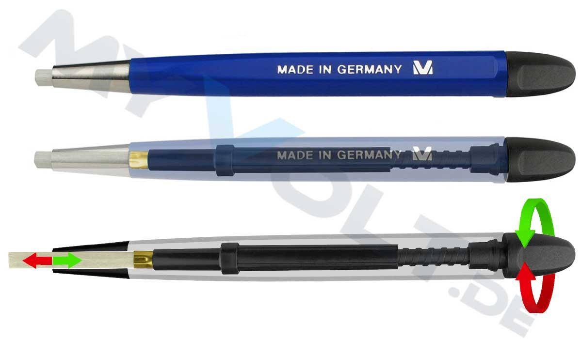 Glasfaserstift / Glasradierer MV-Tools mit Metallspitze