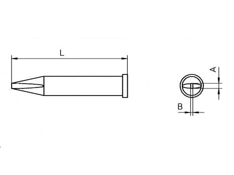 Lötspitze Weller XT-A 1,6x 0,7mm meißelförmig XTA