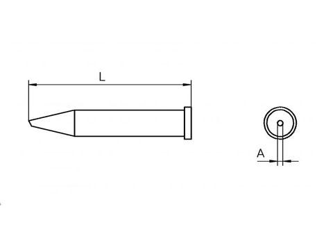 Lötspitze Weller XT-F Ø 1,2mm rund / 30° abgeschrägt XTF