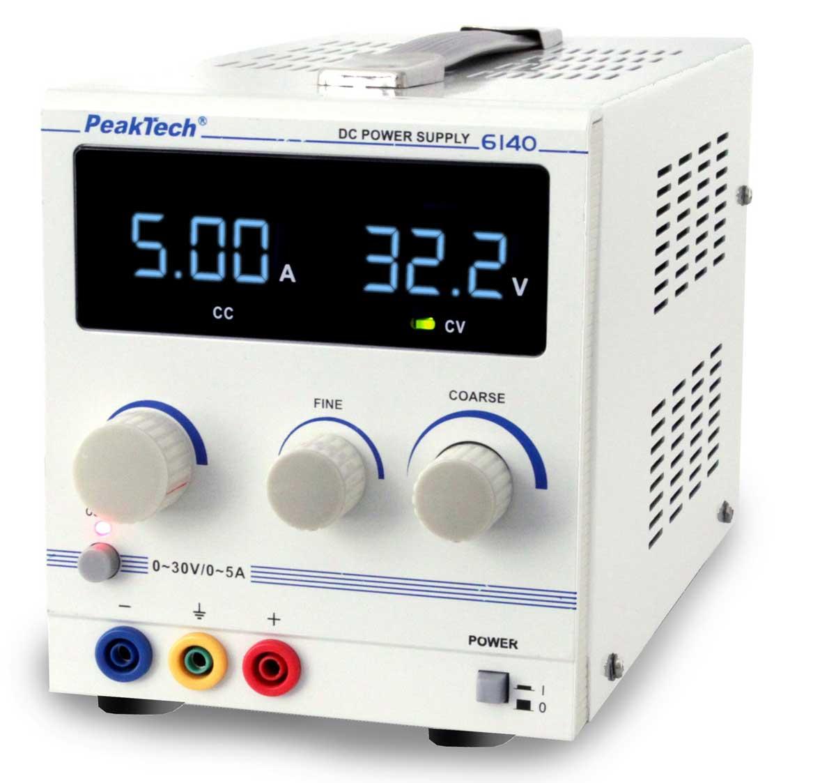Labornetzgerät 0-30V 0-5A LED PeakTech P-6140