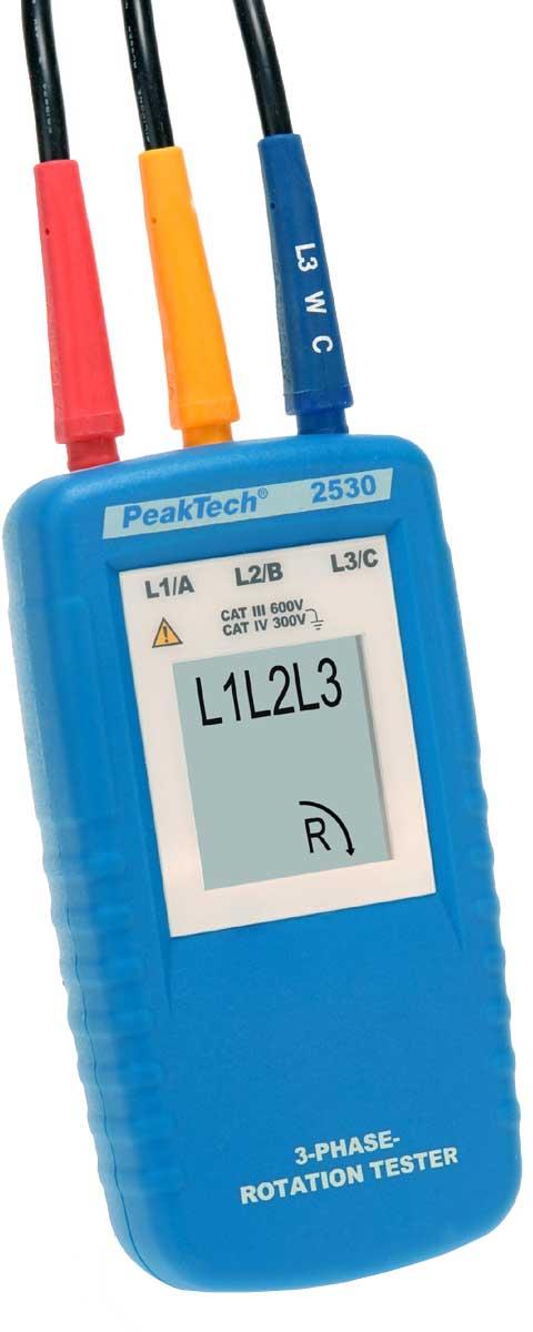 3-Phasen-Drehrichtungsanzeiger PeakTech P-2530